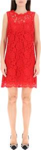 Czerwona sukienka Dolce & Gabbana bez rękawów mini