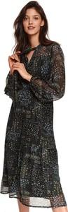 Sukienka Top Secret koszulowa z dekoltem w kształcie litery v