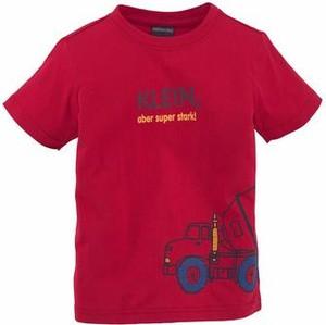 Koszulka dziecięca kidsworld z napisami z krótkim rękawem z dżerseju