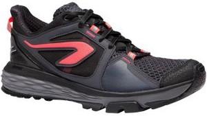 Granatowe buty sportowe Kalenji z płaską podeszwą sznurowane