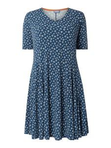 Sukienka Samoon rozkloszowana z krótkim rękawem mini