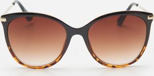 Brązowe okulary damskie House