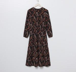 Brązowa sukienka Sinsay z długim rękawem maxi