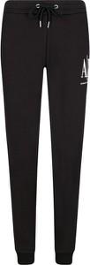 Spodnie sportowe Armani Jeans z dresówki w sportowym stylu z nadrukiem