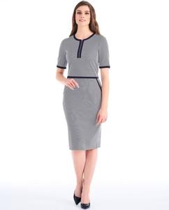 Granatowa sukienka POTIS & VERSO z tkaniny