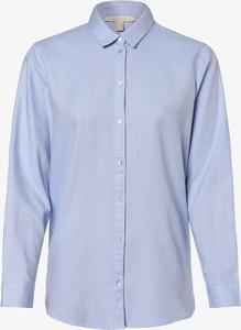 Niebieska bluzka Esprit z kołnierzykiem z długim rękawem