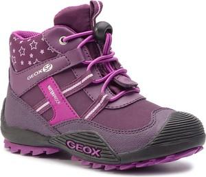 Buty dziecięce zimowe Geox sznurowane z plaru
