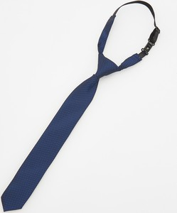 Reserved - Krawat z regulacją na karku - Granatowy