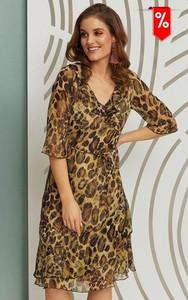 Sukienka Kaskada z długim rękawem mini
