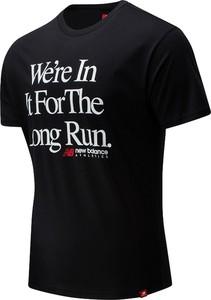T-shirt New Balance w młodzieżowym stylu z bawełny