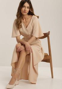 Sukienka Renee z długim rękawem z dekoltem w kształcie litery v w stylu casual