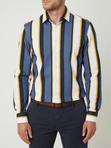 Granatowa koszula Jake*s z bawełny z klasycznym kołnierzykiem