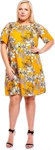 Sukienka Fokus dla puszystych w stylu casual z długim rękawem