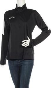 Czarna bluzka Craft w sportowym stylu z długim rękawem
