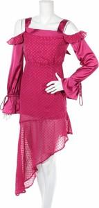 Sukienka Dark Pink z długim rękawem
