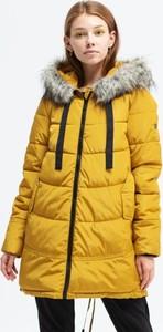 Żółta kurtka Feewear długa w stylu casual