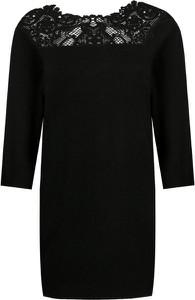 Czarna sukienka Liu-Jo z okrągłym dekoltem w stylu casual