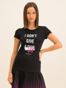 Czarny t-shirt Armani Exchange z okrągłym dekoltem