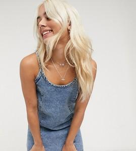 Niebieska sukienka Noisy May Petite na ramiączkach z okrągłym dekoltem