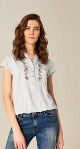 Mohito - koszula z kwiatowym motywem - niebieski