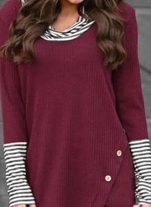 Czerwona bluzka Cikelly w stylu casual