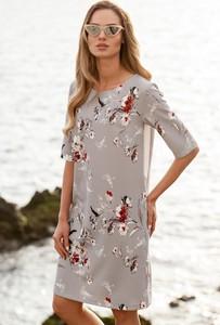 03e3f6f447 Sukienka MOE z okrągłym dekoltem z krótkim rękawem w stylu casual