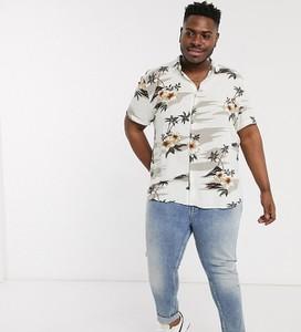 Koszula New Look z klasycznym kołnierzykiem z krótkim rękawem z nadrukiem