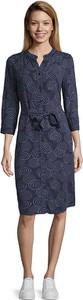 Sukienka Cartoon midi w stylu casual z okrągłym dekoltem