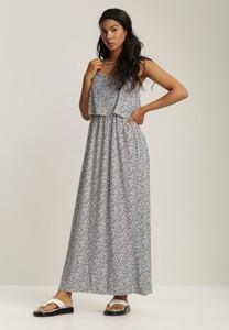 Granatowa sukienka Renee z dekoltem w kształcie litery v