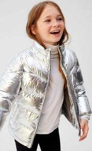 Złota kurtka dziecięca Mango Kids