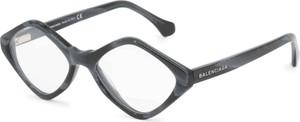 Czarne okulary damskie Balenciaga