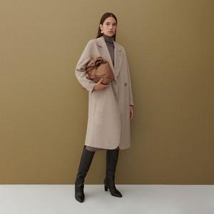 Płaszcz Reserved bez kaptura z wełny długi