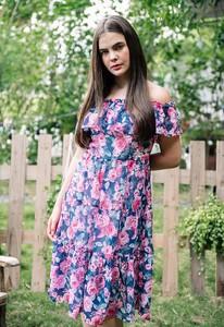 Sukienka Justmelove z szyfonu z krótkim rękawem maxi