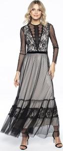 Czarna sukienka L'af Glam maxi z tiulu