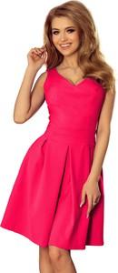 Różowa sukienka NUMOCO bez rękawów