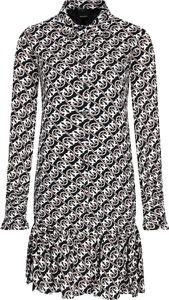 Sukienka Pinko z kołnierzykiem z długim rękawem w stylu casual