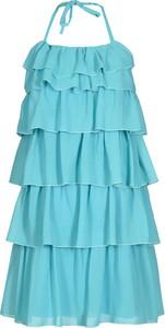 Miętowa sukienka Fokus z okrągłym dekoltem mini w stylu casual