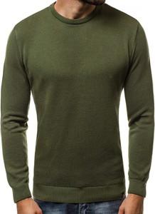 Zielony sweter Ozonee.pl z bawełny w stylu casual