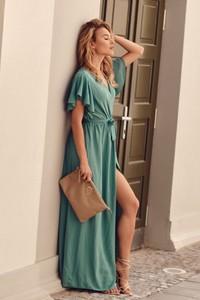 Zielona sukienka Fasardi maxi