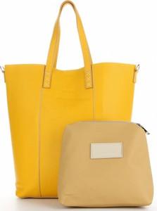 Żółta torebka VITTORIA GOTTI matowa duża