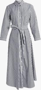 Sukienka Inna z długim rękawem z kołnierzykiem midi