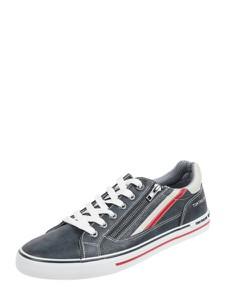 Tom Tailor Sneakersy z imitacji skóry welurowej