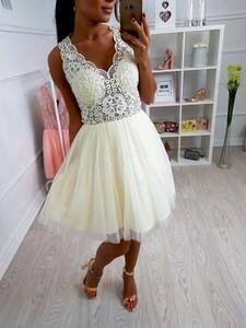 f2253267 sukienka tiulowa szara - stylowo i modnie z Allani
