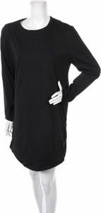 Czarna sukienka YOUR TURN w stylu casual z długim rękawem prosta