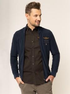 Granatowa bluza Aeronautica Militare z nadrukiem