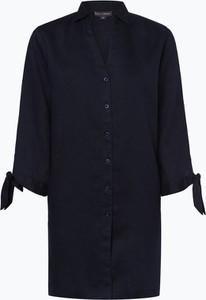 Granatowa bluzka Franco Callegari z długim rękawem z lnu