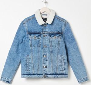Niebieska kurtka Sinsay w młodzieżowym stylu z jeansu