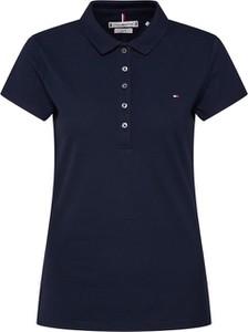 Niebieska bluzka Tommy Hilfiger w stylu casual z dżerseju