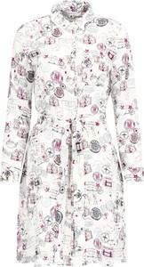 Sukienka Marella z kołnierzykiem mini z długim rękawem