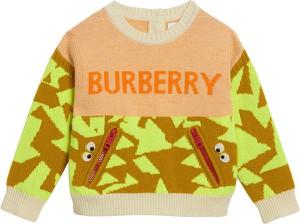 Pomarańczowy sweter Burberry Kids
